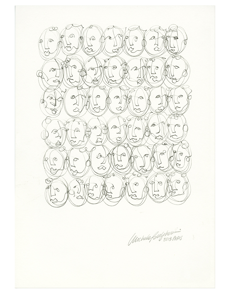 Forty-two crazy heads